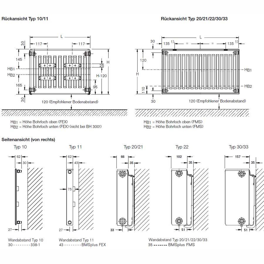 liebelt webshop buderus heizk rper c profil typ 11 bh 600 bl 1300 g nstig online kaufen. Black Bedroom Furniture Sets. Home Design Ideas