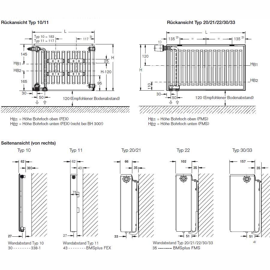liebelt webshop buderus heizk rper vc profil typ 10 bh 600 bl 400 r g nstig online kaufen. Black Bedroom Furniture Sets. Home Design Ideas